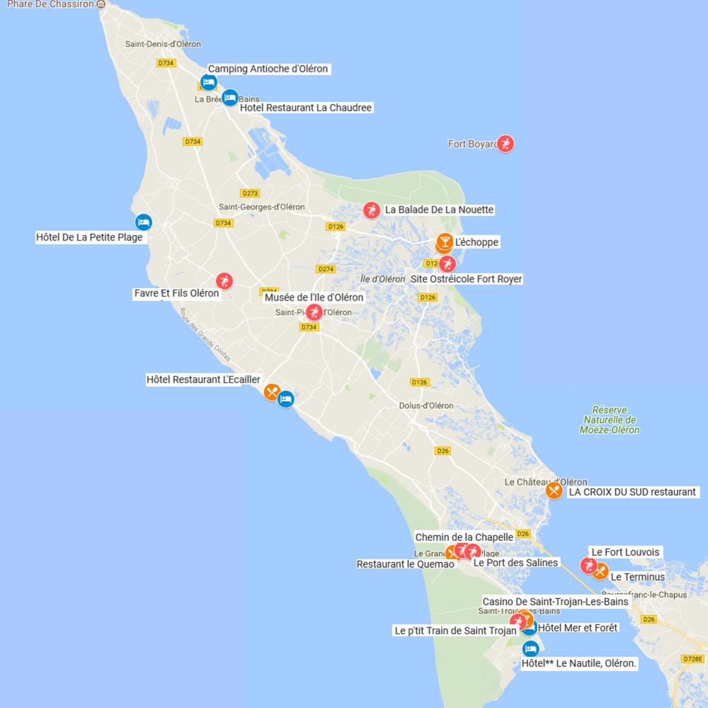 Map Oléron